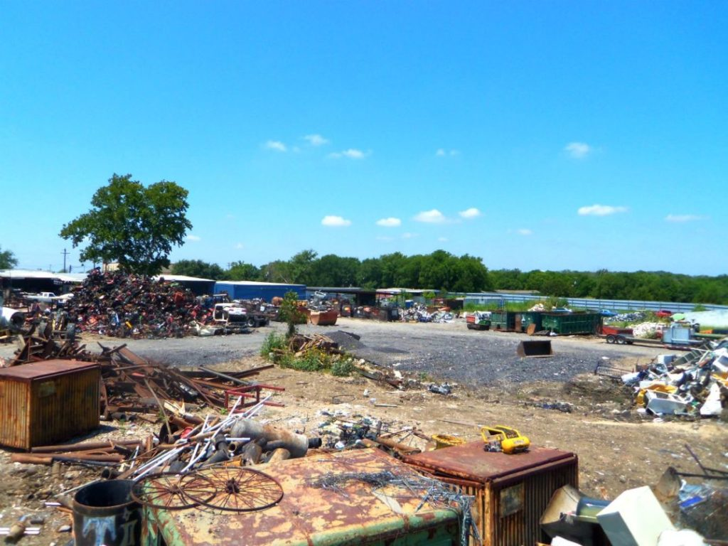 Back yard of our recycling center in Austin
