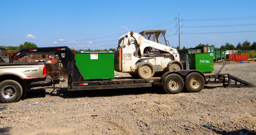 Truck with Trailer and Bobcat