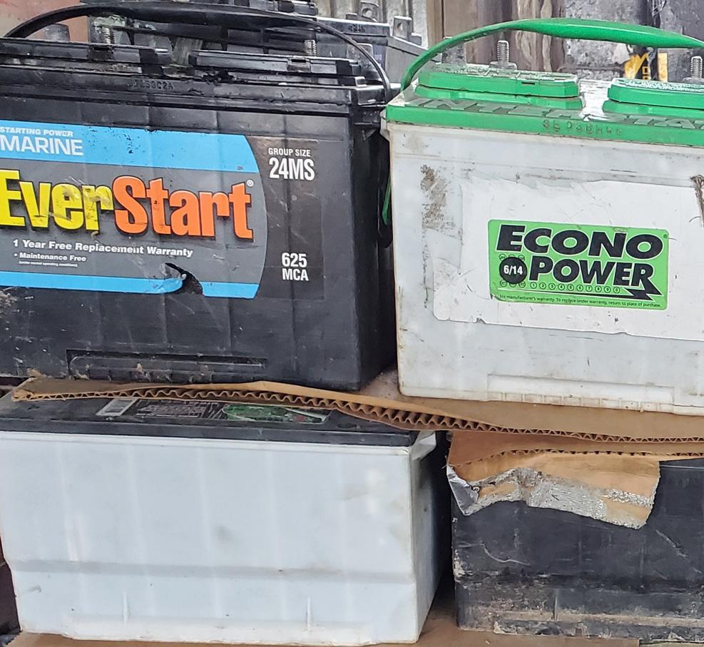 Car parts recycling Austin batteries