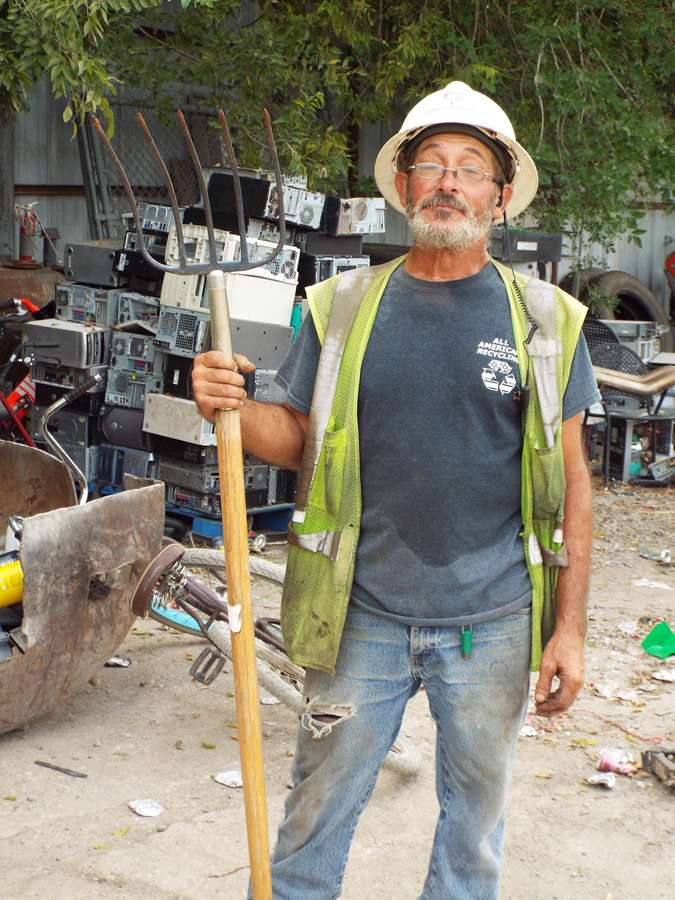 Scrap metal recycling team Austin