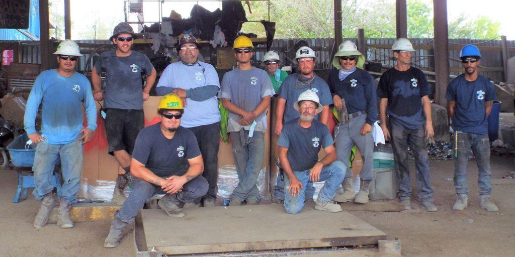 Scrap metal Austin team yard crew